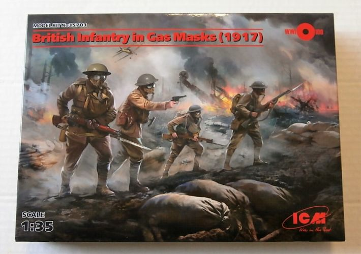 ICM 1/35 35703 BRITISH INFANTRY IN GAS MASKS 1917