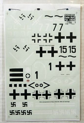 CUTTING EDGE 1/48 2148. 48104 LTD EDITION FOCKE-WULF Fw 190A