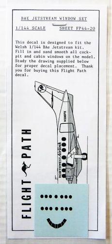FLIGHTPATH 1/144 2151. FP44-20 BAE JETSTREAM WINDOW SET