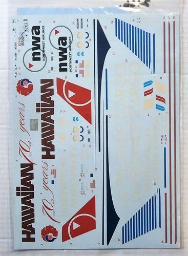 1/144 2166. BRASIL DECALS BD144-456 US AIRLINES DOUGLAS DC-10-30