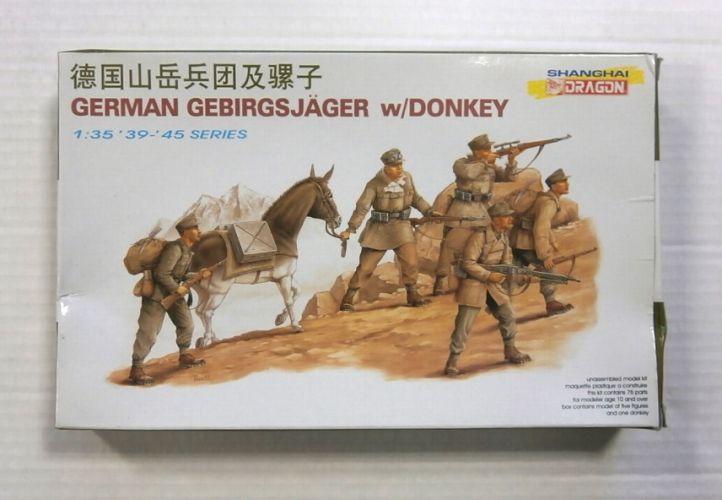 DRAGON 1/35 6078 GERMAN GEBIRGSJAGER w/DONKEY
