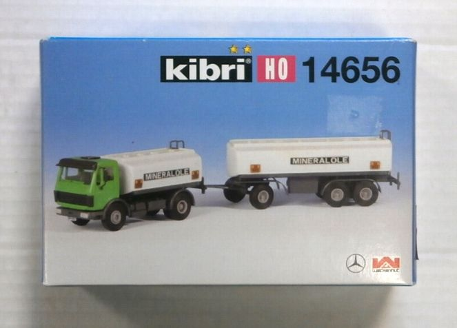 KIBRI HO 14656 TANKER TRUCK WITH TRAILER