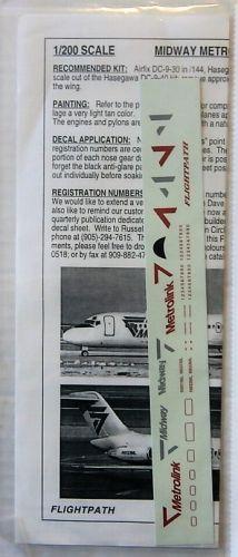 FLIGHTPATH 1/200 1805. FP20-191 MIDWAY METROLINK DC-9