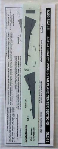 1/200 SCALELINERS 1806. SL2-13 A319/A320/A321 WING   TAILPLANE CENTER SECTIONS