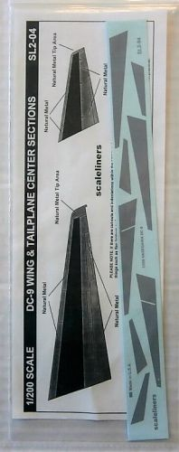 1/200 SCALELINERS 1812. SL2-04 DC-9 WING   TAILPLANE CENTER SECTIONS