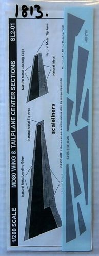 1/200 SCALELINERS 1813. SL2-01 MD80 WING   TAILPLANE CENTER SECTIONS