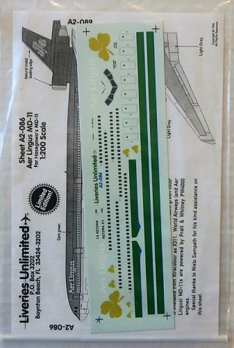 LIVERIES UNLIMITED 1/200 1814. A2-086 AER LINGUS MD-11