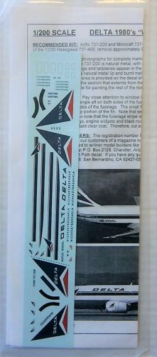 FLIGHTPATH 1/200 1823. FP20-261 DELTA 1980s WIDGET 737