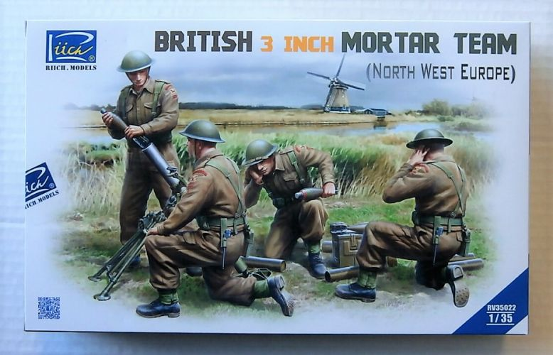 RIICH 1/35 35022 BRITISH 3 INCH MORTAR TEAM