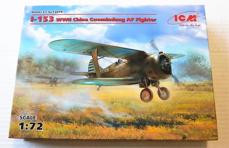 ICM 1/72 72076 I-153 WWII CHINA GUOMINDANG FIGHTER