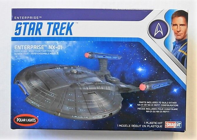 POLAR LIGHTS 1/1000 966 STAR TREK ENTERPRISE NX-01