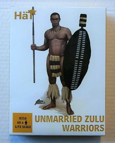 HAT INDUSTRIES 1/72 8316 UNMARRIED ZULU WARRIORS