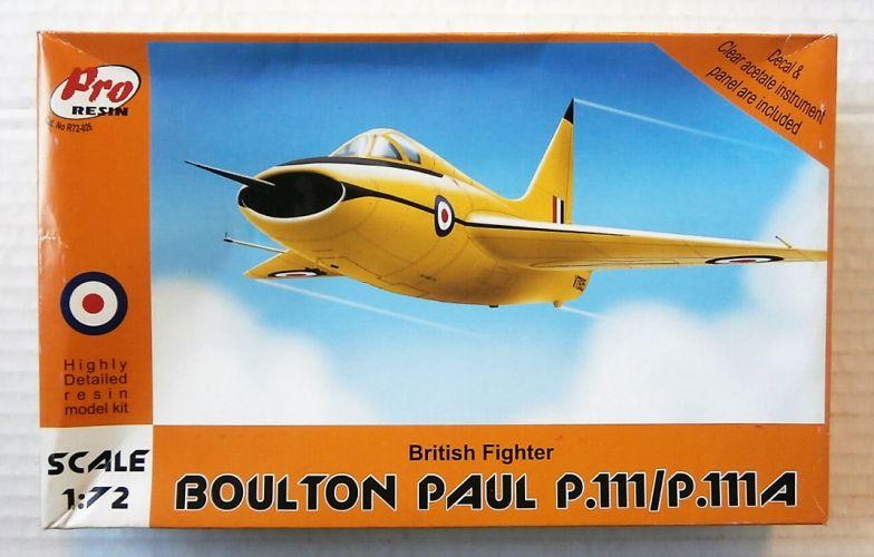 PRO RESIN 1/72 72026 BOULTON PAUL P.111/ P.111A