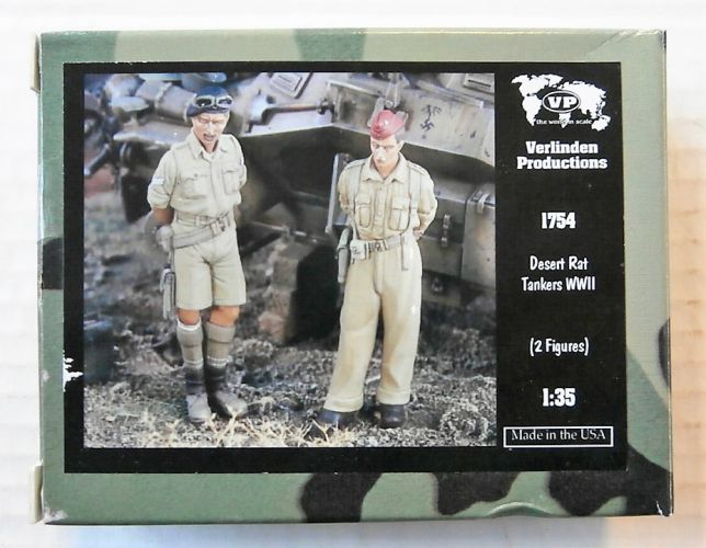 VERLINDEN PRODUCTIONS 1/35 1754 DESERT RAT TANKERS WWII  2 FIGS