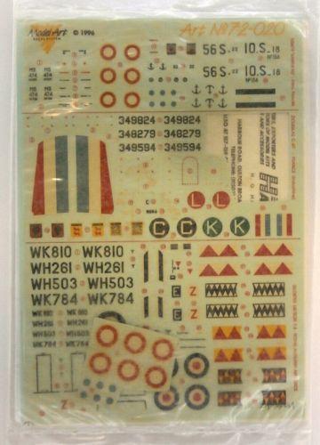 MODEL ART 1/72 2185. 72020 GLOSTER METEOR F.8
