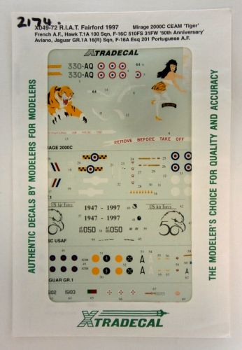 XTRADECAL 1/72 2174. 04972 R.I.A.T. FAIRFORD 1997
