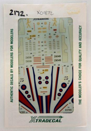 XTRADECAL 1/72 2172. 01872 RAF UPDATE 1990 - TORNADO GR 1