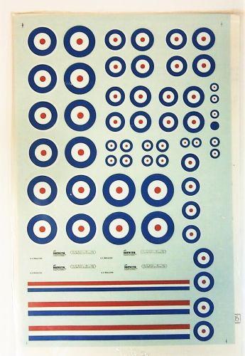 MICROSCALE 1/72 2207. 72-6 BRITISH INSIGNIA WWI