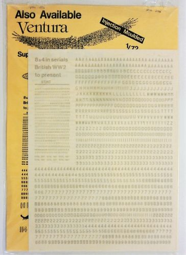 VENTURA 1/72 2228. 7253 8   4 IN SERIALS BRITISH WWII TO PRESENT