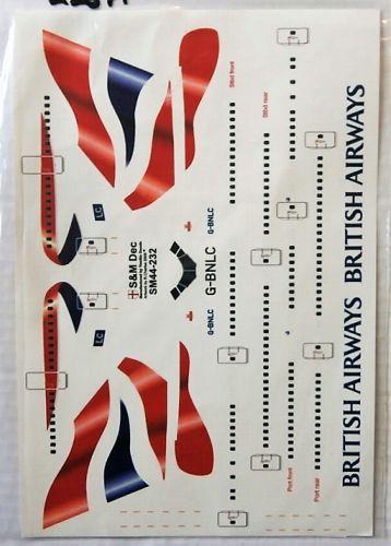 S M MODELS 1/144 2267. SM44-232 BRITISH AIRWAYS BOEING 747-400