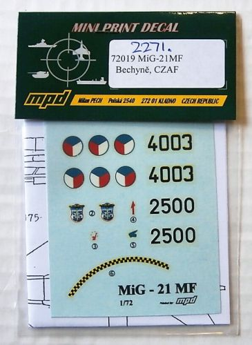 1/72 2271. MPD 72019 MiG-21MF