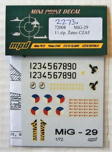 1/72 2273. MPD 72008 MiG-29