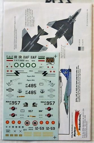 CUTTING EDGE 1/72 2279. 72020 F-4Ds AND RF-4Cs POST WAR AND FOREIGN OPERATORS No1