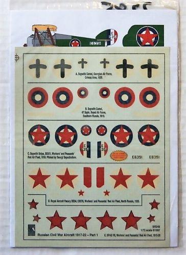 BLUE RIDER 1/72 2285. BR-248 RUSSIAN CIVIL WAR 1917-22 PART 1