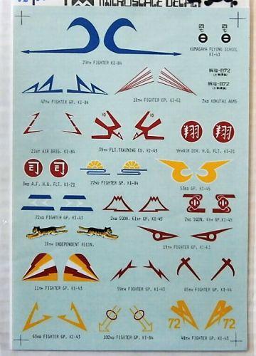 MICROSCALE 1/72 2300. 7268 JAPANESE GROUP MARKINGS No1