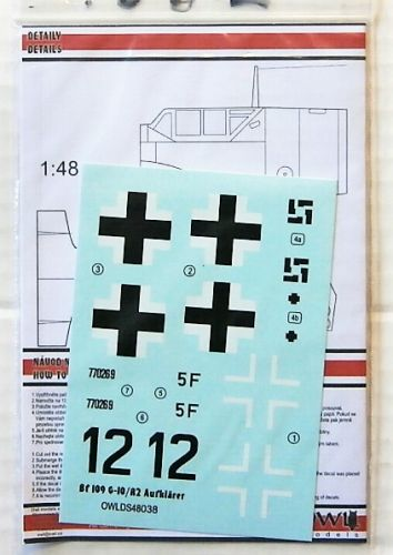 OWL DECALS 1/48 2186. 48038 Bf 109 G-10/R2