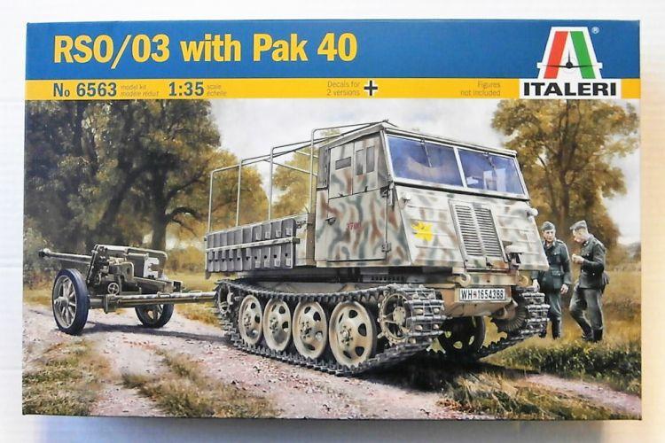 ITALERI 1/35 6563 RSO/03 WITH PAK 40