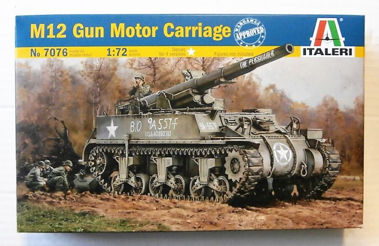 ITALERI 1/72 7076 M12 GUM MOTOR CARRIAGE