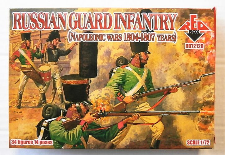 RED BOX 1/72 72129 RUSSIAN GUARD INFANTRY 1804-1807