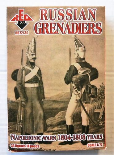 RED BOX 1/72 72130 RUSSIAN GRENADIERS 1804-1807