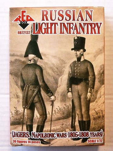 RED BOX 1/72 72132 RUSSIAN LIGHT INFANTRY 1803-1807