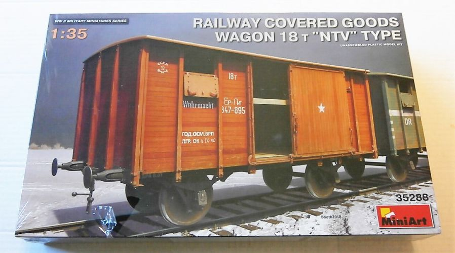 MINIART 1/35 35288 RAILWAY COVERED GOODS WAGON 18t NTV TYPE