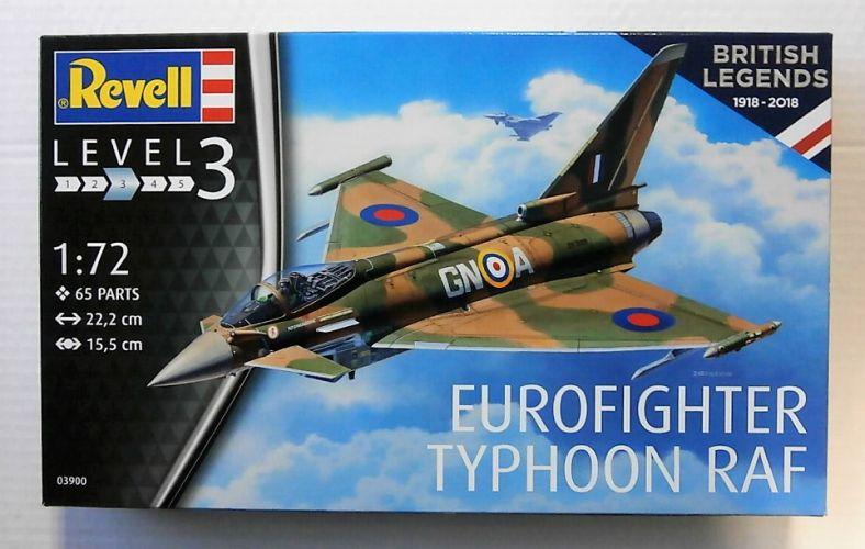 REVELL 1/72 03900 EUROFIGHTER TYPHOON RAF  - BRITISH LEGENDS 1918 - 2018