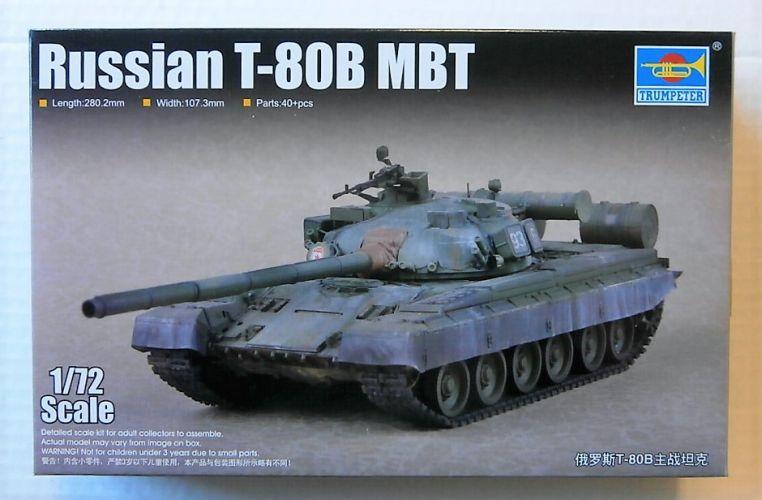 TRUMPETER 1/72 07144 RUSSIAN T-80B MBT