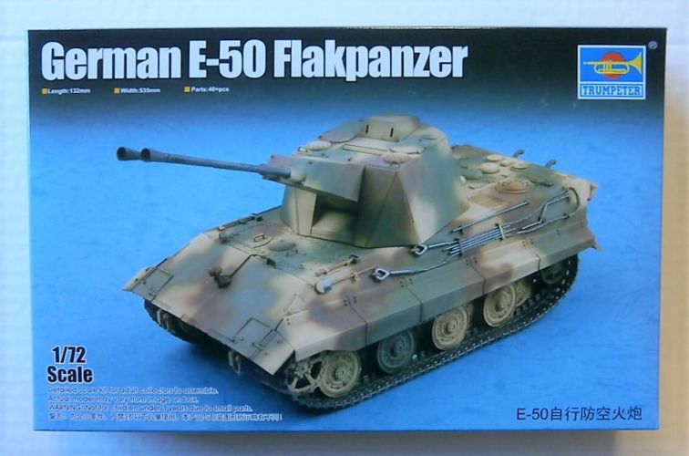 TRUMPETER  07124 GERMAN E-50 FLAKPANZER
