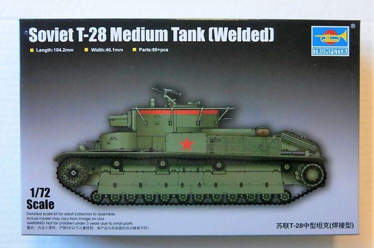 TRUMPETER 1/72 07150 SOVIET T-28 MEDIUM TANK  WELDED