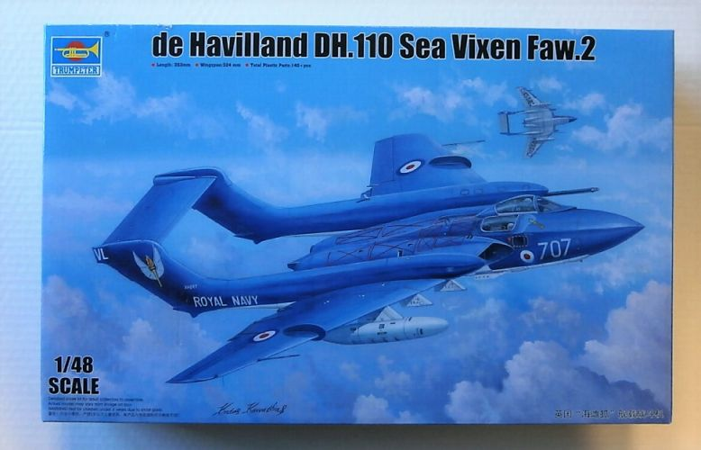 TRUMPETER 1/48 05808 DE HAVILLAND DH.110 SEA VIXEN FAW.2