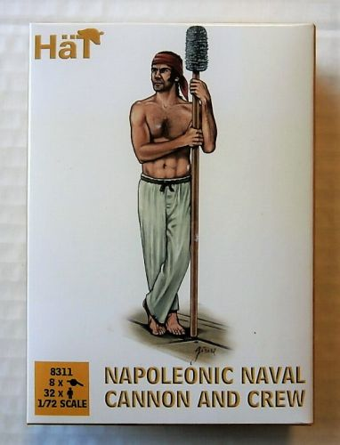 HAT INDUSTRIES 1/72 8311 NAPOLEONIC NAVAL CANNON AND CREW