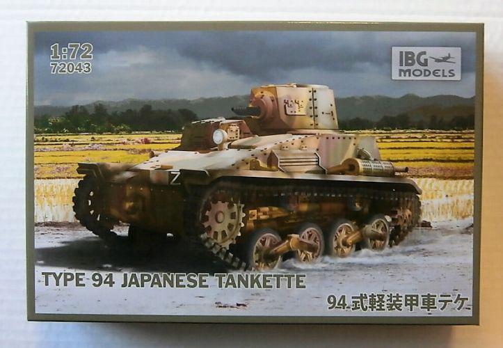 IBG MODELS 1/72 72043 TYPE 94 JAPANESE TANKETTE