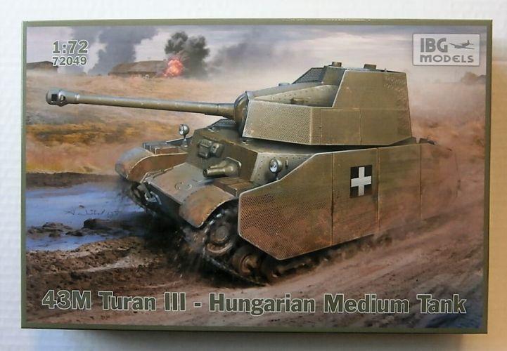 IBG MODELS 1/72 72049 43M TURAN III HUNGARIAN MEDIUM TANK