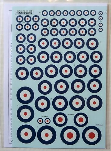 XTRADECAL 1/72 72111 ROYAL AIR FORCE PRE-WAR ROUNDELS 1920-1939