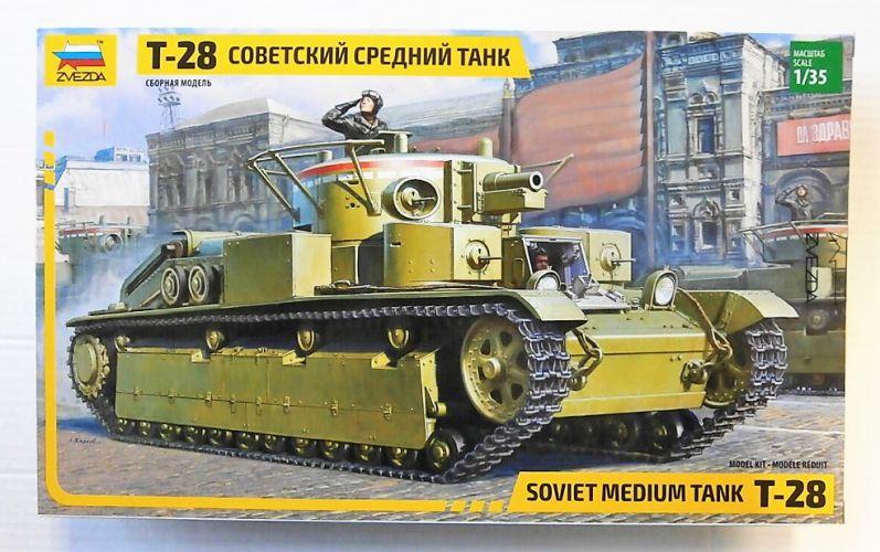 ZVEZDA 1/35 3694 T-28 SOVIET MEDIUM TANK