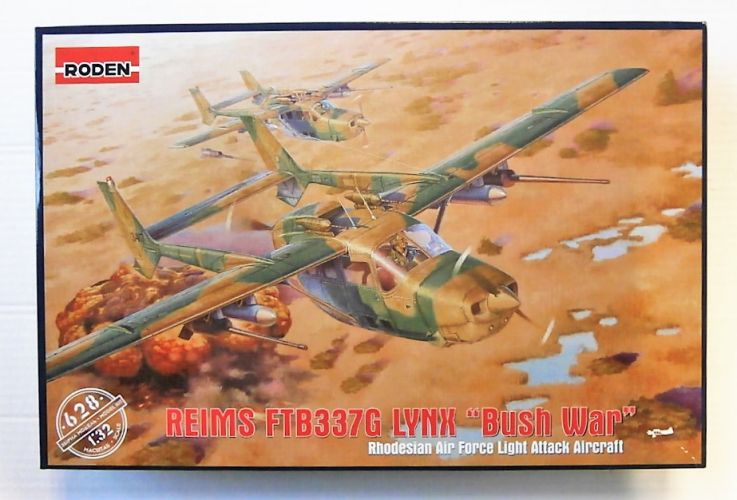 RODEN 1/32 628 REIMS FTB337G LYNX BUSH WAR - RHODESIAN AF LIGHT ATTACK AIRCRAFT