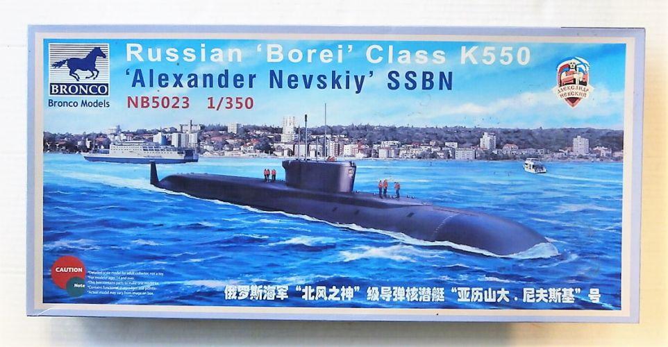 BRONCO 1/350 5023 RUSSIAN BOREI CLASS K550 ALEXANDER NEVSKIY SSBN