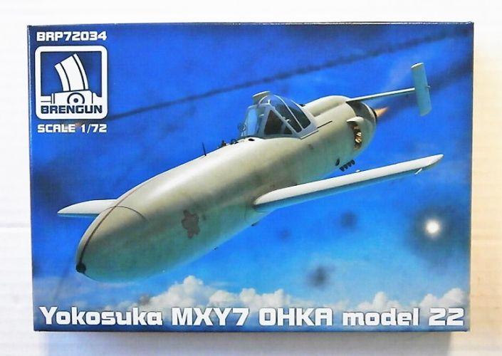 BRENGUN 1/72 72034 YOKOSUKA OHKA MXY-7 MODEL 22