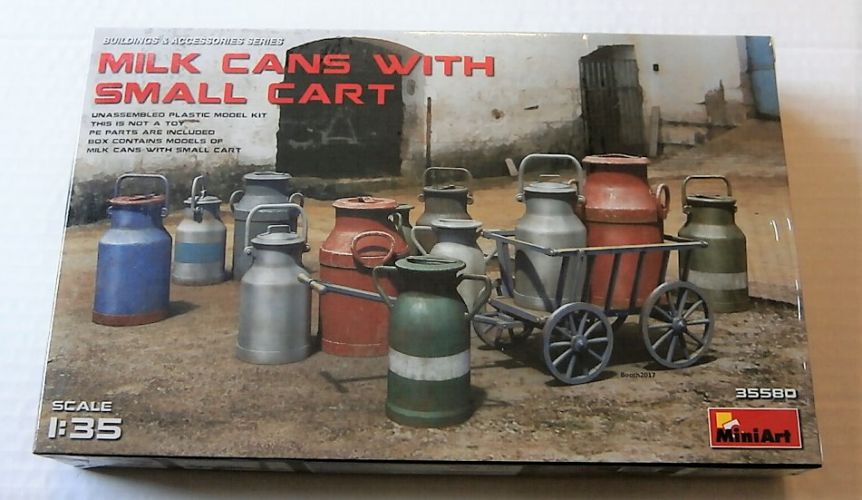 MINIART 1/35 35580 MILK CANS WITH SMALL CART